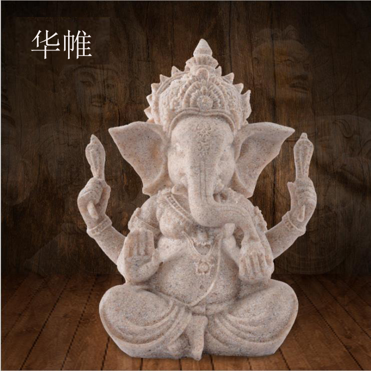 India Ganesha Buddha Sculpture, Southeast Asian Style, Zen Gift, Ornament, Buddha Figrue, Figurine, Arts And Crafts~
