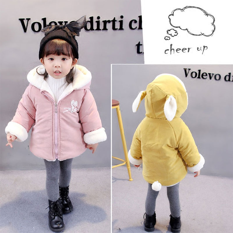 1 year birthday baby girls clothes jacket for newborn baby clothing thick warm hooded cotton outerwear coats toddler girls cloth
