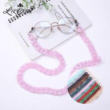 LIKGREAT 74 см розовые синие широкие акриловые стекла цепочка для очков ремешки с застежками женские мужские модные очки для чтения аксессуары