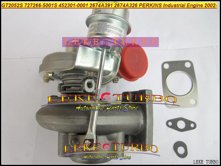 GT2052S 727266-5003S 452301-5003S 727266 452301 2674A328 2674A393 Turbo For Perkin Industrial For JCB 3CX 4CX Off Highway T4.40 gt2556s 711736 711736 0003 711736 0010 711736 0016 711736 0026 2674a226 2674a227 turbo for perkin massey 5455 4 4l 420d it