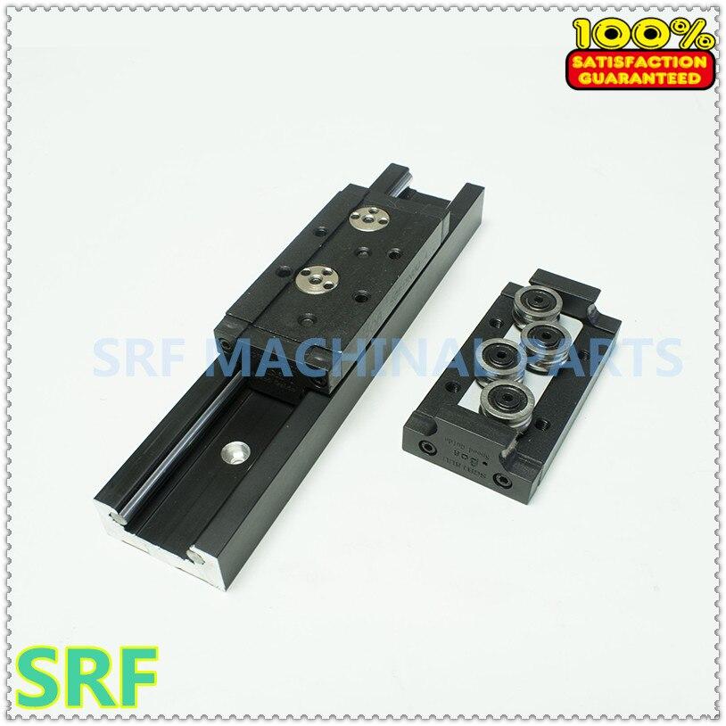 Rail de guidage linéaire en aluminium de rouleau carré de largeur de 47mm 2 pièces longueur de SGR20N = 400mm avec 4 pc SGB20N-4UU bloc de 4 rouleaux pour CNC