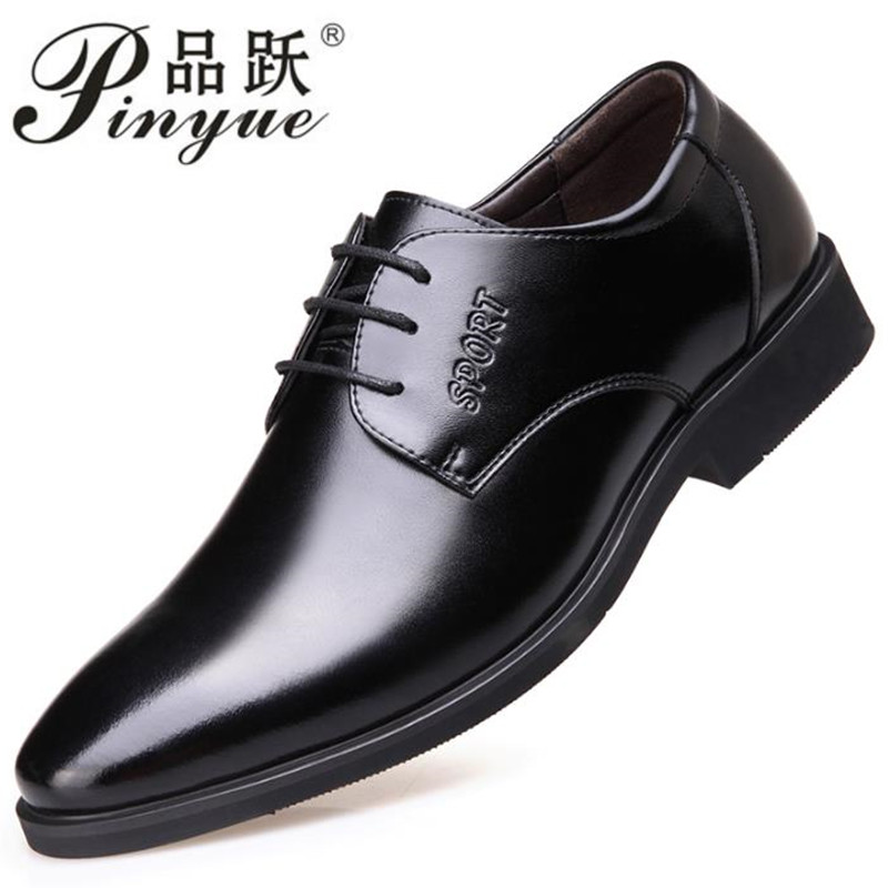 6195d24835bec marron Printemps Chaussures Appartements Noir D affaires Casual Nouveau  ardoisé Haute Respirant Qualité De Mode Pu Hommes Doux Homme kaki Oxford  awBXqd