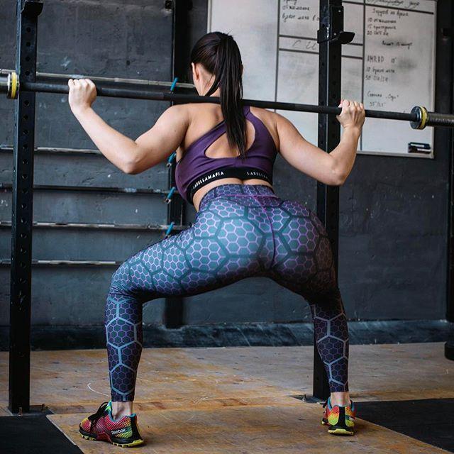 Sport Tights Gym Cloth High Waist Ladies Run Ass Leggings -7485