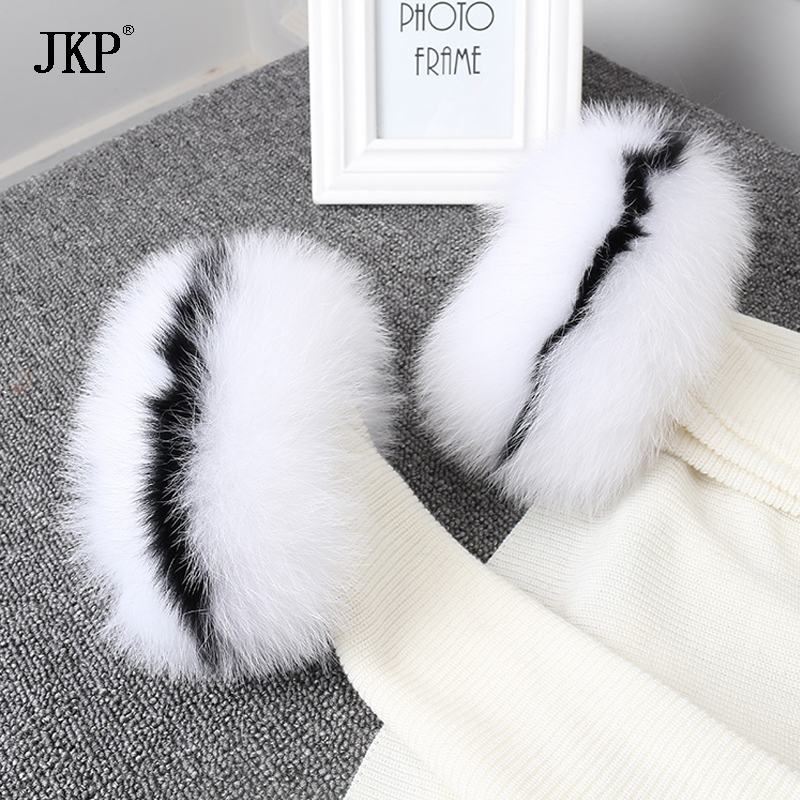 2018 Real Fox Fur Cuffs Fashon Fox Fur Cuff Arm Warmer Lady Bracelet Real Fur Wristband Glove