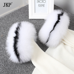 2018 Real Fox fur Cuffs fashon Fox Fur Cuff Arm Warmer Lady Bracelet Real Fur Wristband Glove
