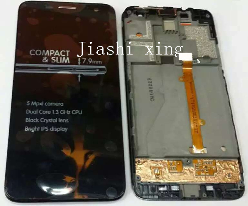 6012d 6012X LCD Display+Touch Screen Panel With Frame Digitizer Accessory For Alcatel idol mini 6012 OT6012 4.3 Smartphone
