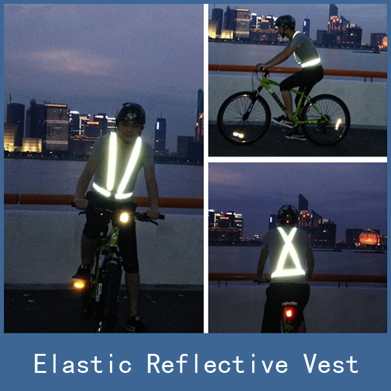 New High Visibility Elastic Chaleco Reflectante Reflective Safety Vest Belt Strap for Outdoor Night Work Running Walking Cycling росмэн ортопедический рюкзак фантазия маша и медведь