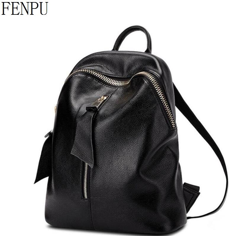 3ddfe6c1bc Buy backpack cowhide shoulder bag school and get free shipping on  AliExpress.com