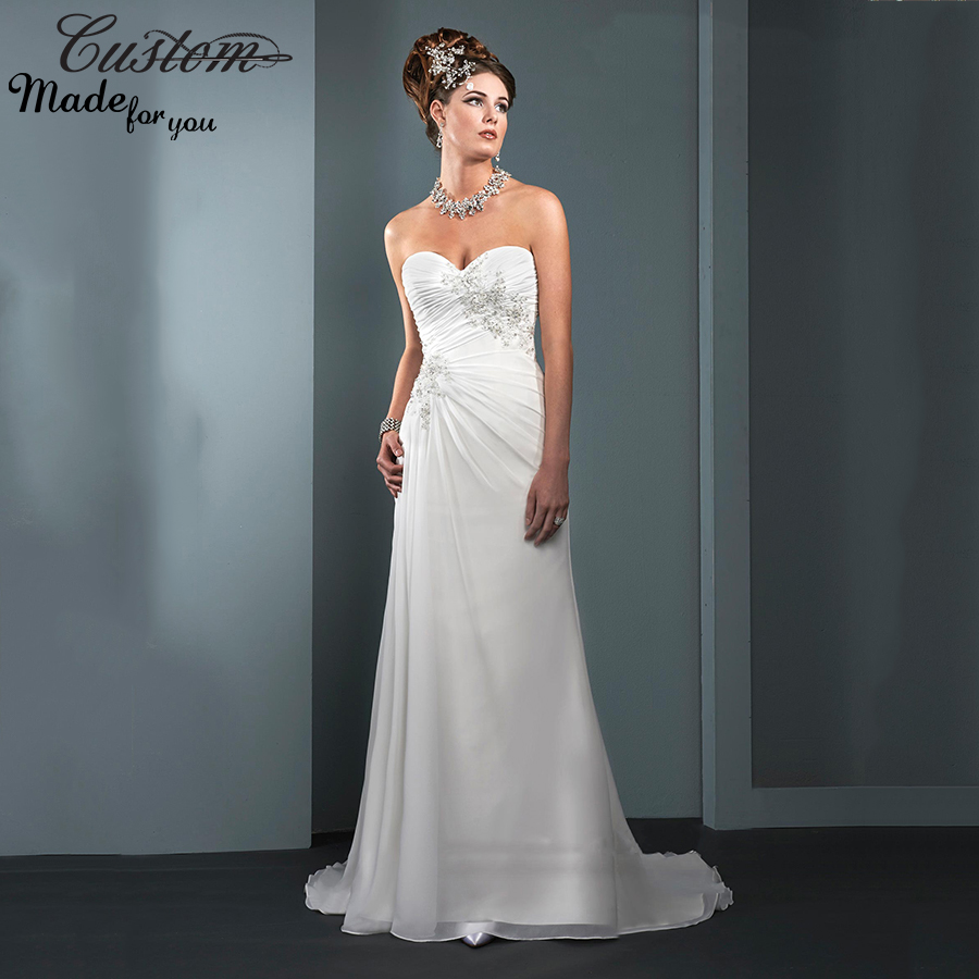 Summer Sweetheart Chiffon Bridal Gowns Lace Plus Size