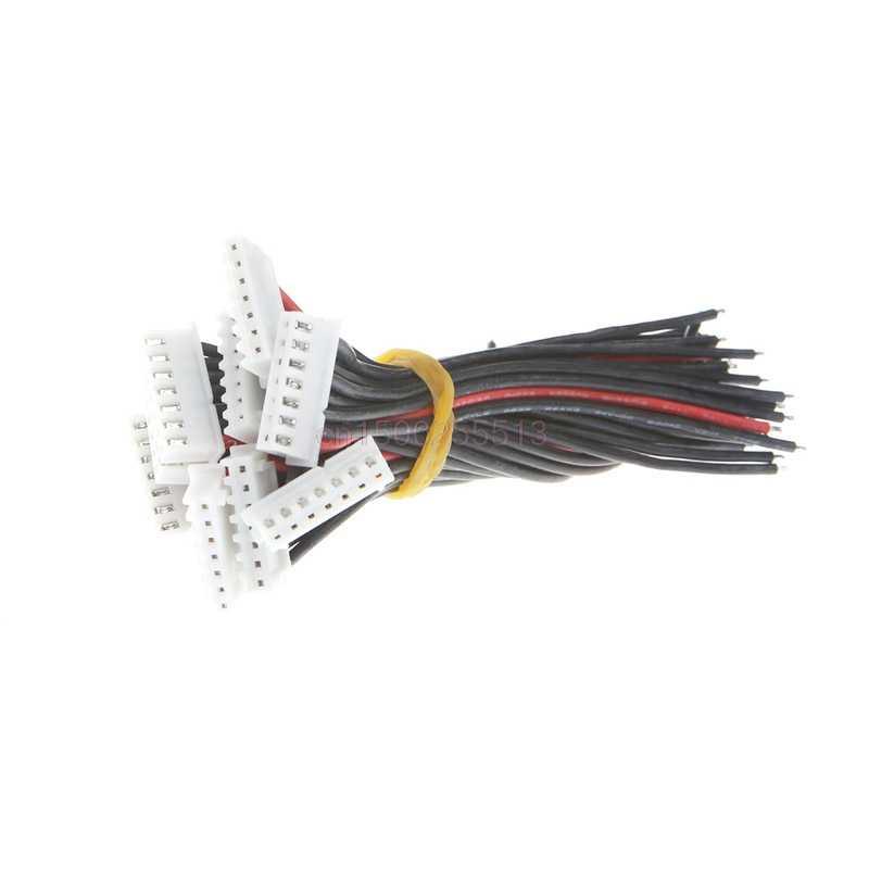 6S1P Lipo câble de chargeur d'équilibre de batterie 22 AWG fil de silicium JST XH Cnnector 10 CM