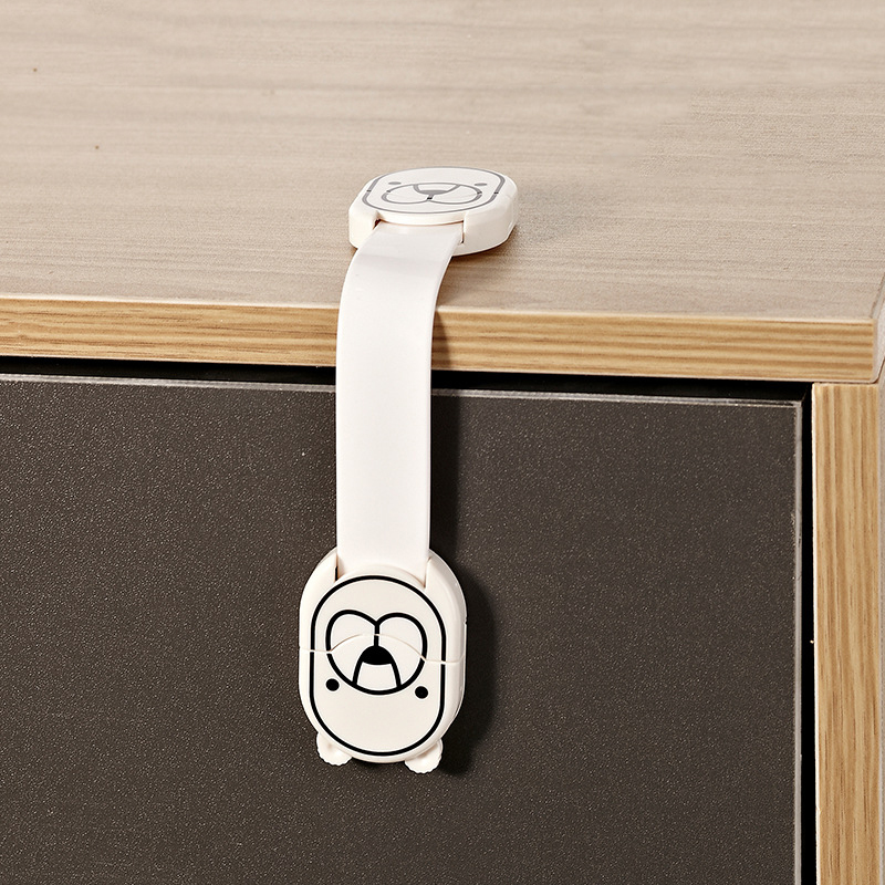1Pc Child Lock Baby Safety Protection Cabinet Lock For Refrigerators Drawer Lock Kids Safety Plastic Lock Baby Security Products