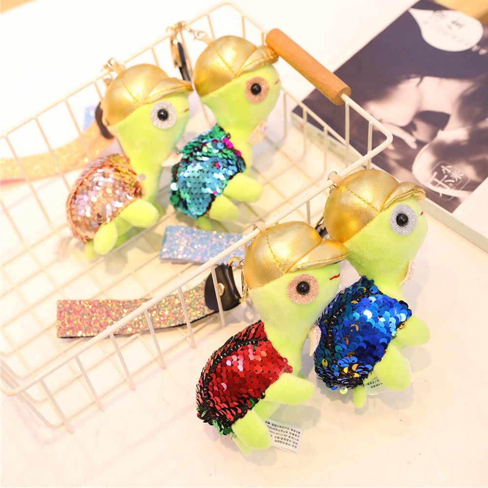 Tartaruga bonito Coelho Jacaré Tartaruga de Pelúcia Brinquedos Dos Miúdos Meninas Saco Chave Pingente Colorido Pendurar Pingente Chaveiro Presente Speelgoed