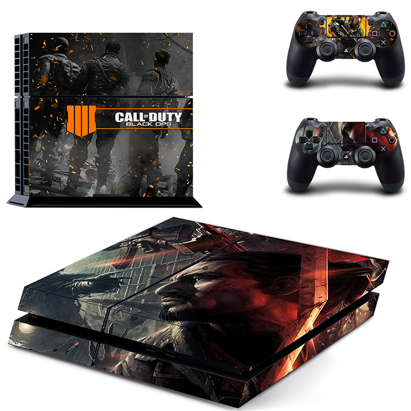 HOMEREALLY Stickers call of duty black ops 4 PS4 Skin Sticker for Sony Play Station 4 Console and Controller ps4 slim skin-in Stickers from Consumer Electronics