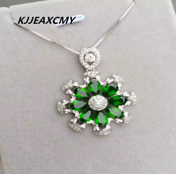 KJJEAXCMY boutique jewelry, 925 Sterling Silver diopside shinv pendant inlaid jewelry natural jewelry processing customized one KJJEAXCMY boutique jewelry, 925 Sterling Silver diopside shinv pendant inlaid jewelry natural jewelry processing customized one