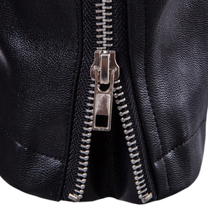 Image 5 - Puff sleeve casual abrigo de cuero nuevo invierno cuero de moda chaquetas slim fit hombres Cuero clásico chaqueta M 5XL tamaño