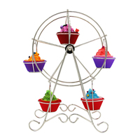 Party Cake Decoration Aluminum alloy Ferris Wheel Cupcake Display Stand Holder 8 Cups Cake Stainless Steel