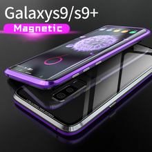 Original Brand-New Magnetic Case for Samsung Galaxy S9 Plus Aluminum Metal Frame Tempered Glass Back Cover Case For Galaxy S9
