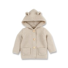 Baby Sweaters Clothes Newborn Cartoon Bear Knitted Infant Boys Cardigans Autumn Winter Toddler Girls Jackets Coats Kids Costume red christmas reindeer knitted baby jacket for girls fall long sleeved sweaters cardigans coats newborn boys winter warm clothes