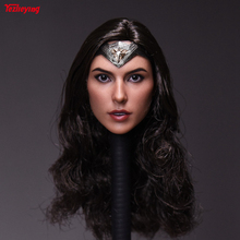 1/6 Scale head sculpt Female Accessorie Gal Gadot Gergardo Justice Dawn Carving Wonder Woman Body for 12inch Hottoys Phicen gift