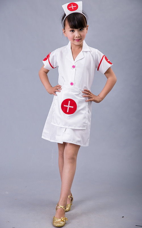 2017 summer Halloween Cosplay Game Uniforms Nurse Costume Kids Fantasia Carnival Cosplay Girls Role Play Game Nurse Fancy Dress kids boys pilot costume cosplay halloween set for children fantasia disfraces game uniforms boys military air force jumpsuit