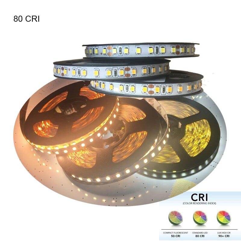 Wholesale 10m CRI +80 DC 12V 24V 2835 LED Strip Light White 3000K 4000K 6000K Available 600LED/5m 22-24lm/LED 5500lm/5m стоимость