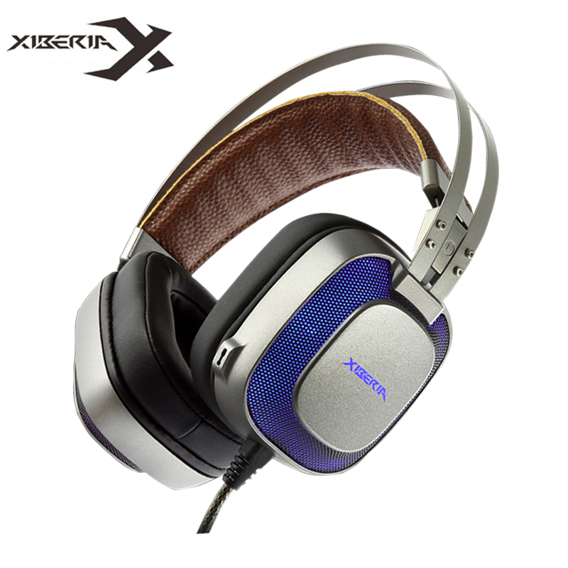 XIBERIA K10 Computer Gaming Headphones USB Best Stereo Heavy Bass Headset Gamer with Microphone LED Light for PC Game fone quad bike atv cover black waterproof four wheeler storage cover size l xxl xxxl