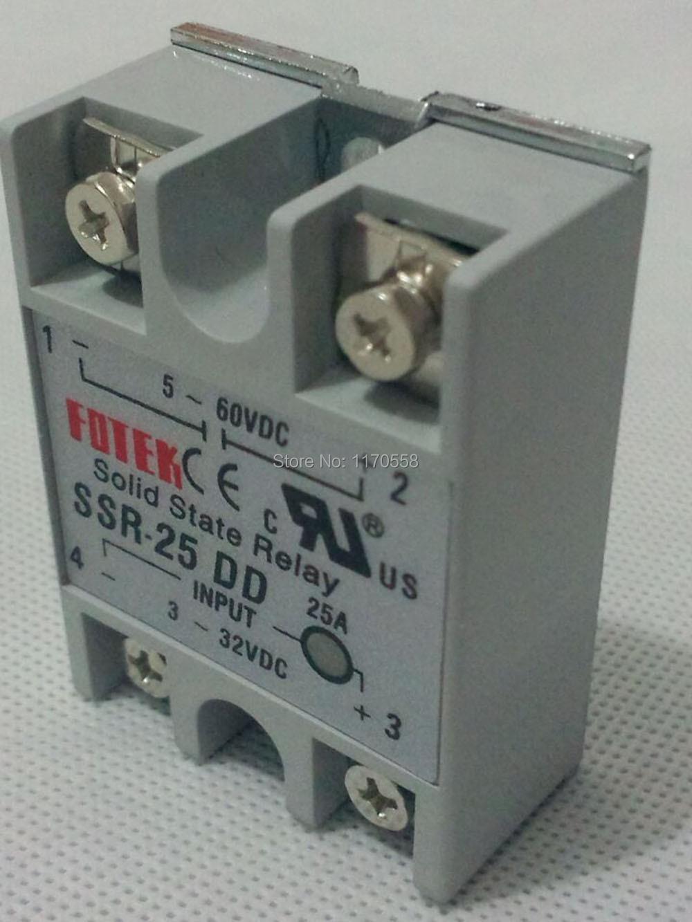 Real 25a Fotek Ssr 25dd Manufacturer Relayinput 3 32vdc Current Input Relay Output 5 60vdc