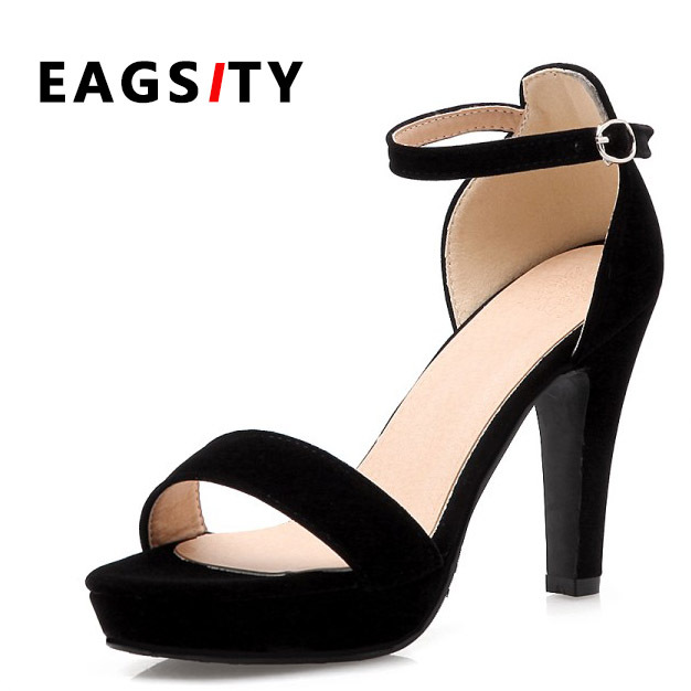 abe436894527 classic black platform simple style women suede thin heel sandals lady sex  night club dancing shoes 10.5cm height