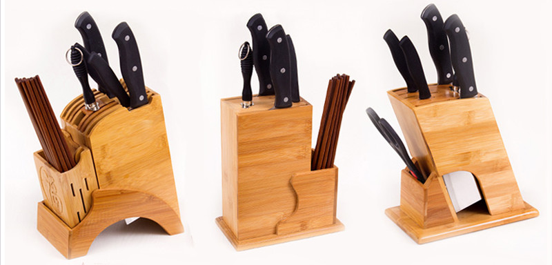 Creative Bamboo Kitchen Knife Holder Multifunctional Kitchen Accessories Storage Rack Tool Holder Knife Stand Knife Rack12