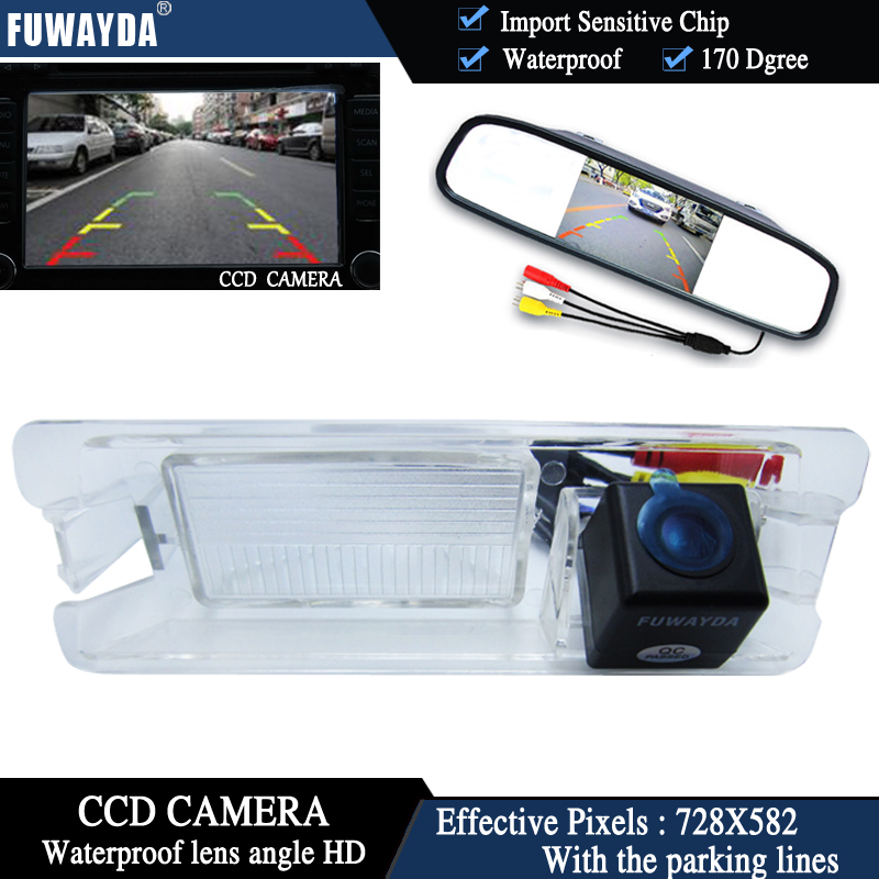 FUWAYDA Color CCD Chip Car Rear View font b Camera b font for Nissan March Renault