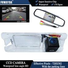 Fuwayda Цвет CCD чип вид сзади автомобиля Камера для Nissan March Renault Logan Sandero + 4.3 дюймов Зеркало заднего вида Мониторы водонепроницаемый