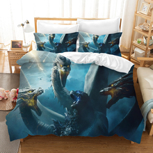 Godzilla Gojira 3d Bedding Set Duvet Covers Pillowcases King of Monsters Room Decor Comforter Sets Bedclothes Bed Linen