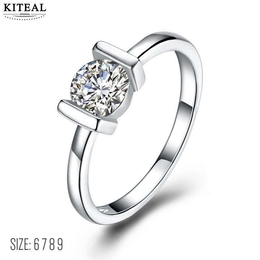 Kiteal Classical Silver Color round Cubic Zirconia Fashion Wedding & Engagement Ring Jewelry For Women Wholesale ZYR504