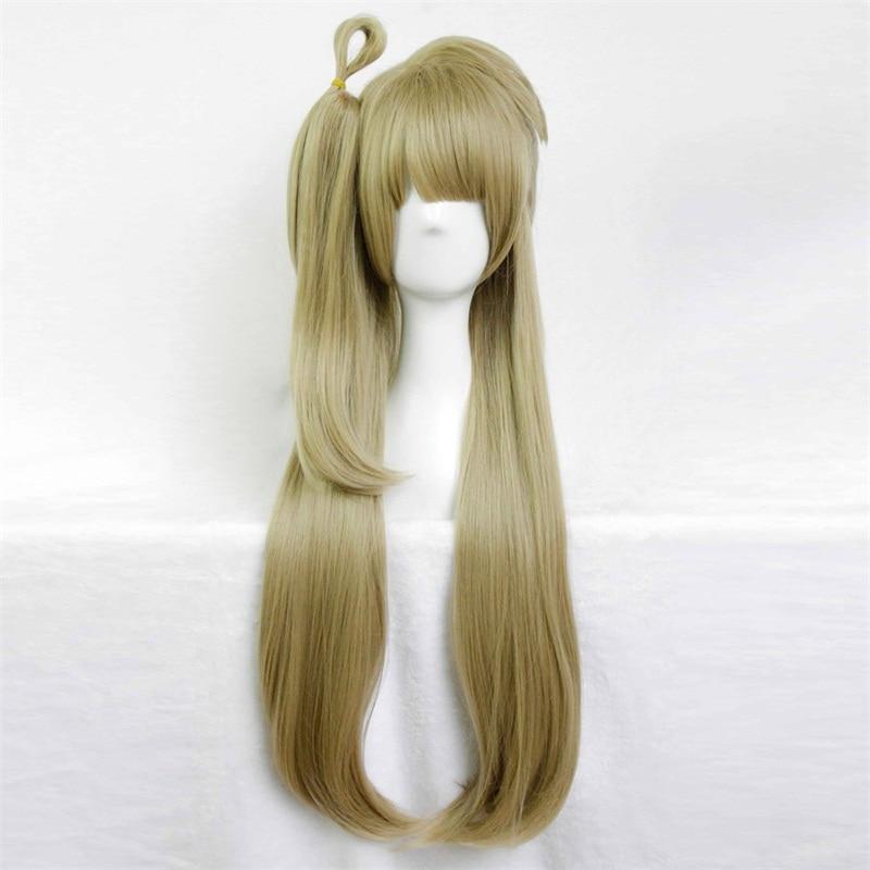 anime 80cm long straight flaxen