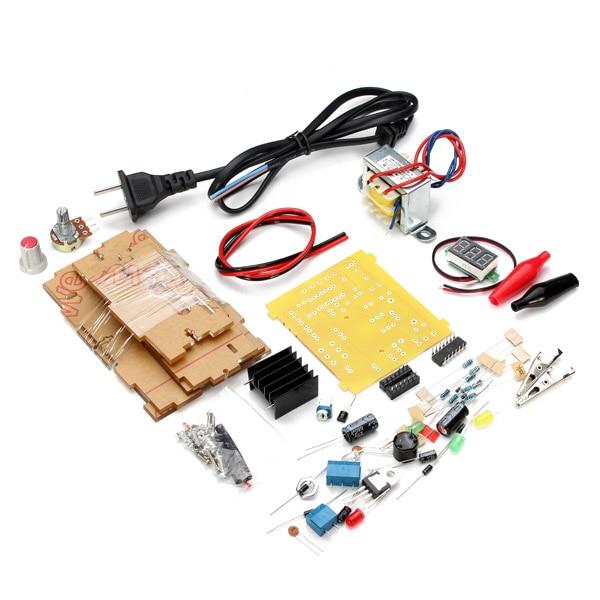 US Plug 110V DIY LM317 Adjustable Voltage Power Supply Module Kit High Quality цена