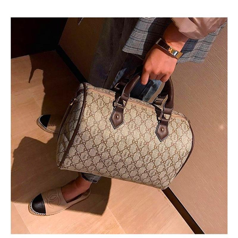 Womens bag, European and American fashion large capacity Boston bag, new style single shoulder bag, handbag.