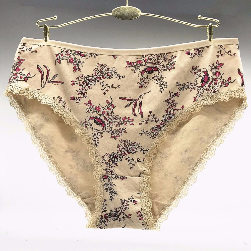 Free Shipping 4pcs/lot Big yards 2XL/3XL/4XL Women's panties underwear waist Cotton Lady Mummy Pants Large Size Underwear 89255