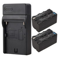 2x 5200mAh Video Camera Digital Battery Charger For Sony NP F750 NP F770 Replacement Backup Batteries