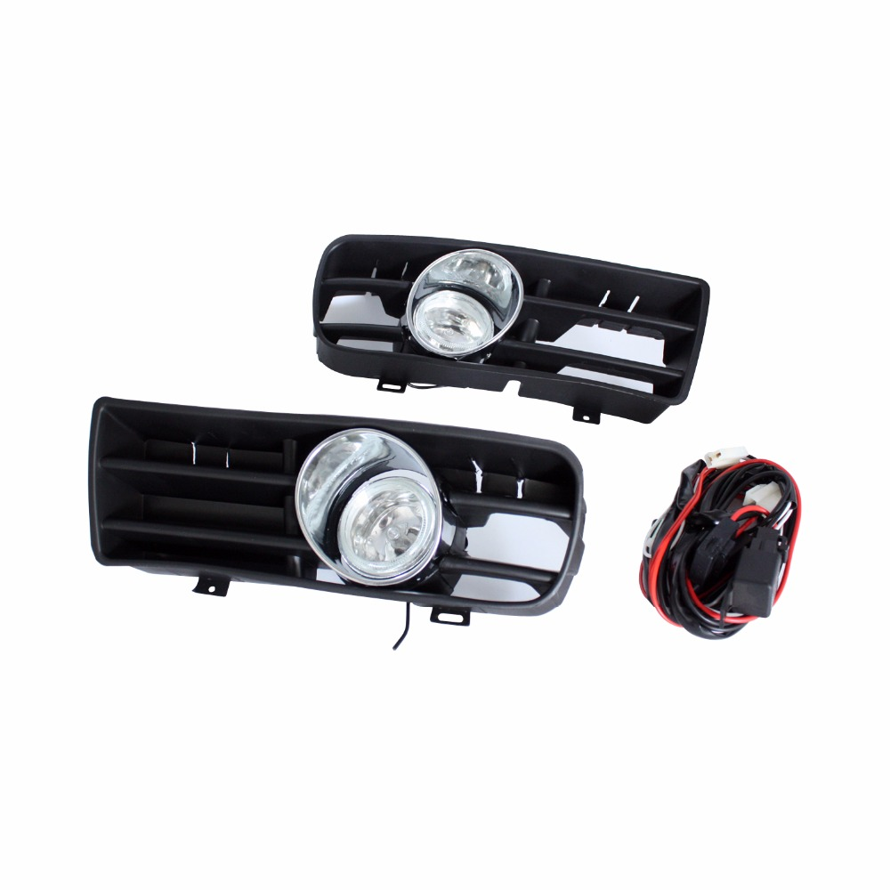12V Car DRL Light Lamp Front Bumper Grilles Halogen Fog Light For Volkswagen Golf 4 GTI/TDI MK4 1999-2004 Car Styling pu grey front lip chin spoiler bumper guard for volkswagon vw golf 4 iv mk4 standard 1998 2004 non gti car styling