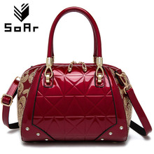 Top Handle Bags Luxury Handbags Women Bags Designer 2017 Ladies Leather Sequins Woman Shoulder Messenger Bags