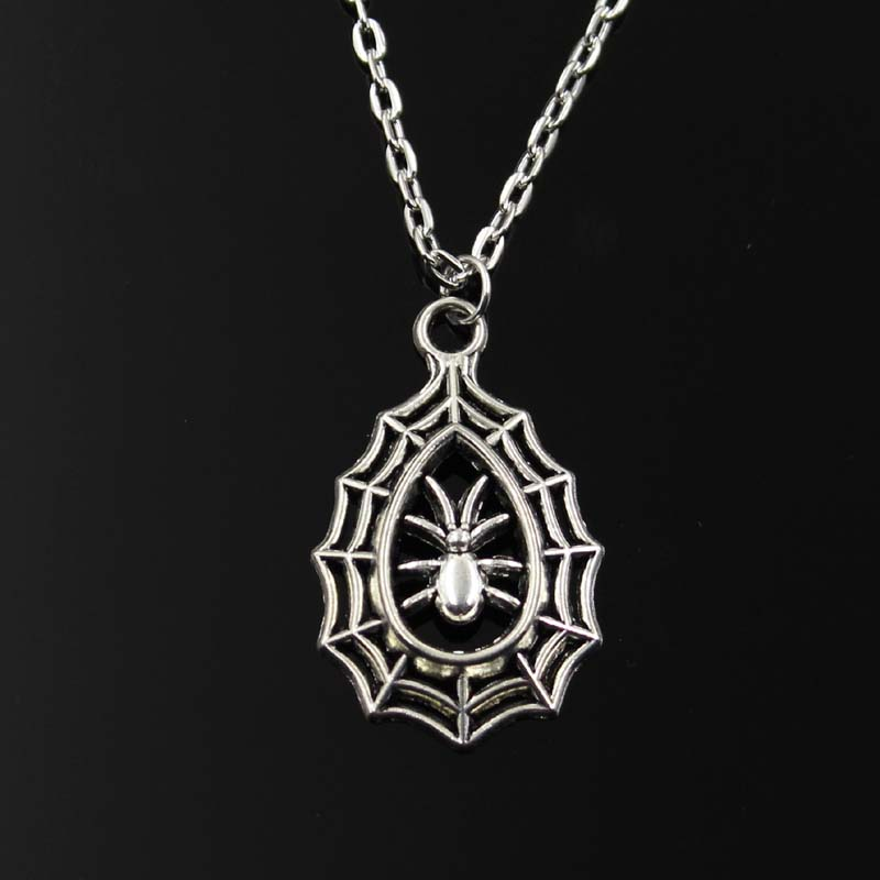 Chain Necklaces Jewelry & Accessories New Fashion Necklace Spider Cobweb Halloween 35x20mm Silver Pendants Short Long Women Men Colar Gift Jewelry Choker To Invigorate Health Effectively