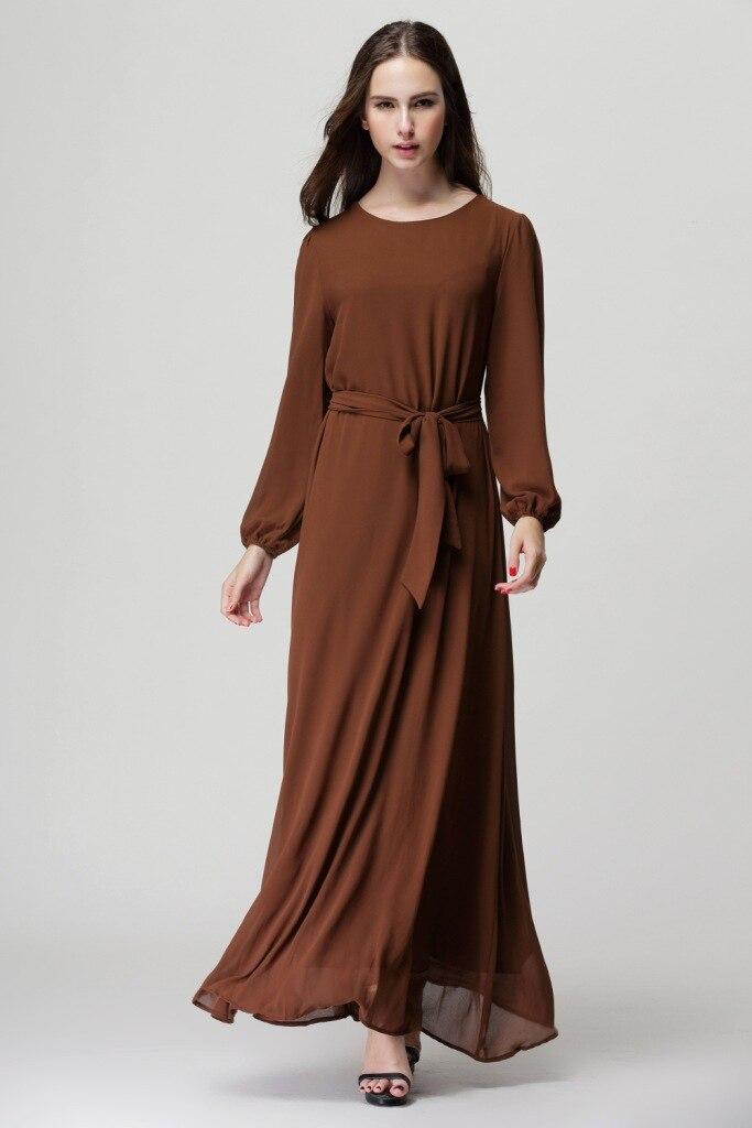 c4104ef5e5 US $18.88 |2017 New chiffon musilm abaya dress,plus size dress Abayas  Malaysian Muslim Women Dress Sunday clothes-in Islamic Clothing from  Novelty & ...