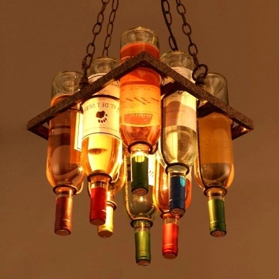 Retro Loft Style Art Bottle Droplight LED Pendant Light Fixtures Hanging Lamp Vintage Industrial Lighting Lamparas Colgantes america country led pendant light fixtures in style loft industrial lamp for bar balcony handlampen lamparas colgantes