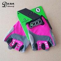 ROCKBROS Women Cycling Gloves Road Bike Gloves Female Sports Fitness Half Finger Anti Slip Gel Pad