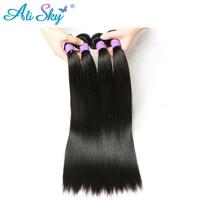 Ali Sky Hair Weaving 1 Piece Peruvian Straight 100% nonremy Human Hair Weft Thick Bundles 8