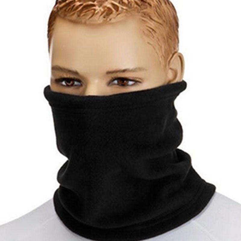 1PC 3in1 Winter Unisex Women Men Sports Thermal Fleece Scarf Snood Neck Warmer Face Mask Beanie Hats