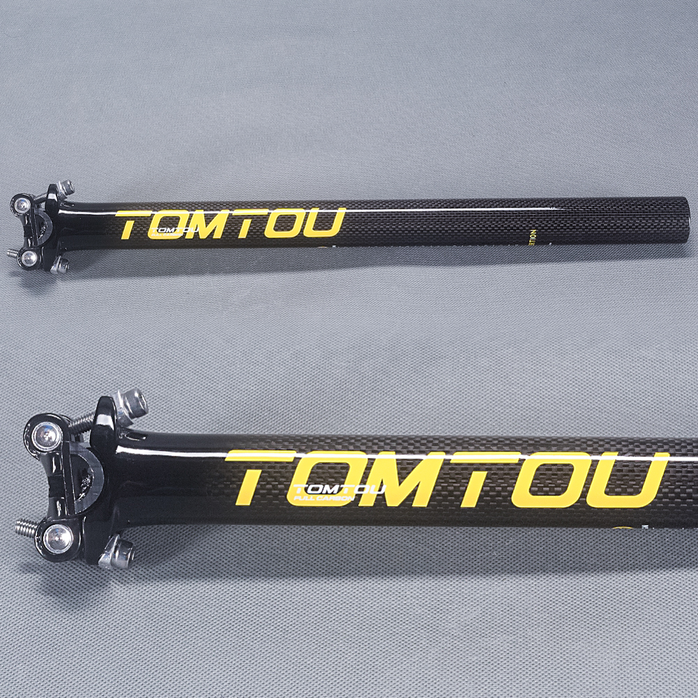 TomTou 3k Glossy Carbon Fibre Cycling Road Bike Seatpost Mountian MTB Seat Tube 27.2/30. ...