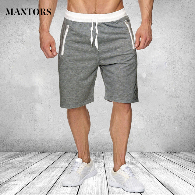 af38194be218db Summer Casual Men Shorts Male Sweatpants Fitness Joggers Short Gyms With  Zipper Pockets Knee Length Men's Bodybuilding Shorts