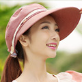 Coreano Anti UV Protector Solar Sombrero Junto con Un Grande Plegable Playa Del Verano Del Sombrero Femenino Del Sombrero Del Sol