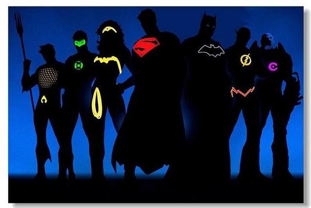Liga De La Justicia BatMan Iron Man Carteles HD Poster